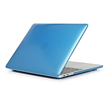 """15"""" Pro (USB-C Port) Case, Metal-color Hard Rubberized Cover For 2016-2018 Macbook 15.4 Pro With Touch Bar, Blue"""