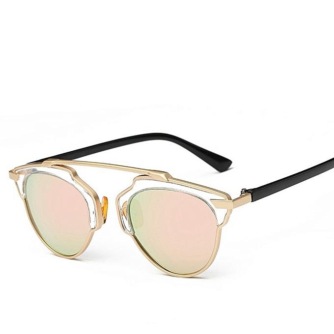 8908848c11 2016 New Cat Eye Aviator Sunglasses Women Vintage Fashion Metal Frame  Mirror Sun Glasses Unique Flat
