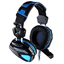 Headphone Gaming, G5200 Gaming Headphone 7.1 Surround USB Gamer Headset (Black Blue)