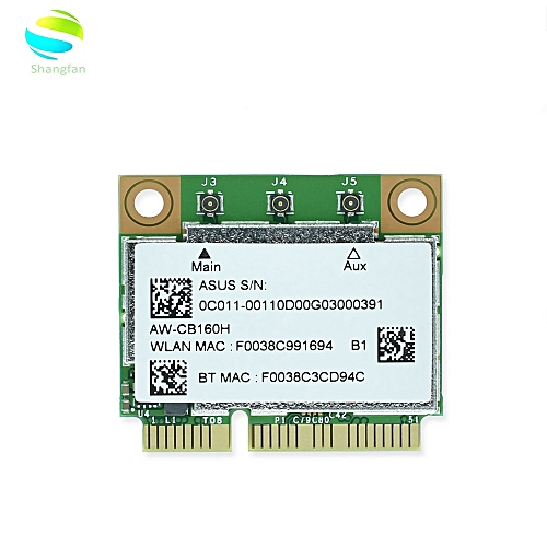 AW-CB160H BCM94360HMB BCM94360 Half Mini PCI-express 802 11AC 1300Mbps  Wireless WIFI WLAN Bluetooth4 0 Card( )
