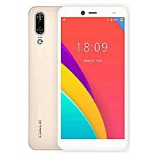 P2 - 5.5'' - 16GB ROM - 2GB RAM, Face ID - 5MP + 8MP Dual Camera - 4G - 2700mAh -Plus Free screen protector +Phone caver- Gold