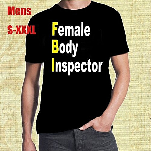 8046cab7 Generic FBI Female Body Inspector Funny Classic Novelty Beach Party Fun  Mens T Shirt 100% Cotton Printed Short Sleeves Funny Graphic Tee Shirt  Round Neck ...