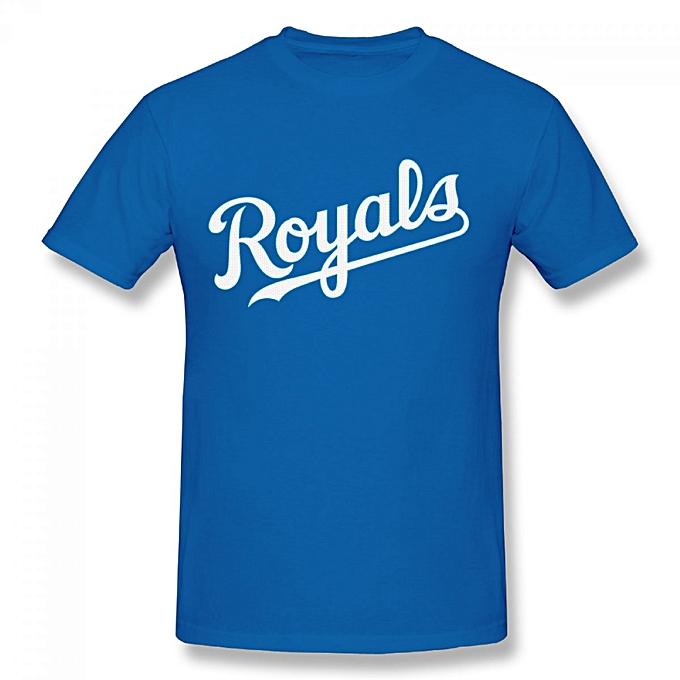 2c61cfeb Royal Kansas City Royals Third Wind Men's Cotton Short Sleeve Print T-shirt  Blue