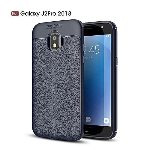cheap for discount fdda0 07e2a For Samsung Galaxy J2 Pro 2018 / J2Pro 2018 Case Luxury Soft Silicon Litchi  Striae Leather Case Coque Shock Proof Back Cover
