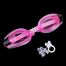 Anti Fog UV Swimming Goggles Adjustable Glasses With Nose Clip+Ear Plug