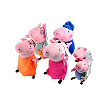 6Pcs Peppa Pig Plush Doll Toys Family Set