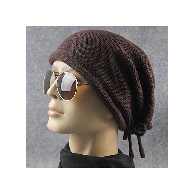 42e85557fbbc4 Knit Winter Warm Women Men Hip-Hop Bandage Beanie Hat Baggy Unisex Ski Cap  Skull