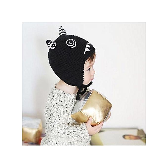 a0227d27c9f Braveayong Baby Toddler Kids Boy Girl Knitted Crochet Cat Ear Beanie Winter  Warm Hat Cap BK