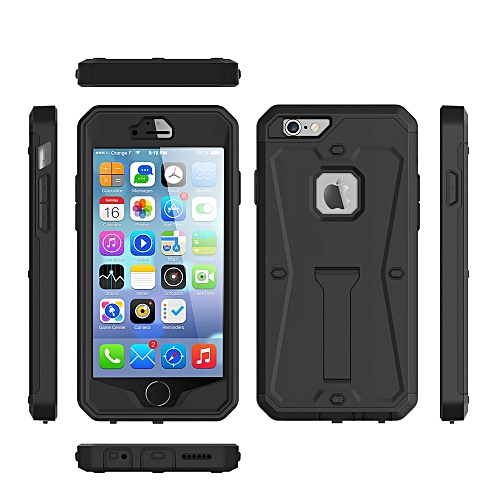 watch 23c1e cdd62 Case For for iphone 6 / 6s Dustproof Water Resistant Advanced Shock  Absorption Protection With Kick-Stand Black 247152 c-3 (Color:Main Picture)