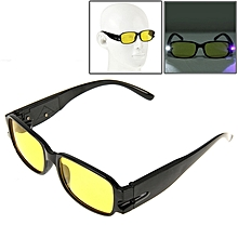 Uv Protection Yellow Resin Lens Reading Glasses With Currency Detecting Function, +3.50d