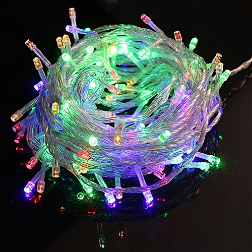 Christmas Led Strip Lights.Multi Coloured Led Fairy Light Lamp 10 Meter Flash 100 Led Red Green Blue And Yellow Light