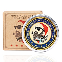 Men Beard Oil Balm Moustache Wax for styling Beeswax Moisturizing Beard Care Sweet orange