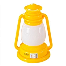 Fohting Flat Plug Rated Voltage 110-220V Retro Ship Lights Creative LED Nightlight  - Yellow