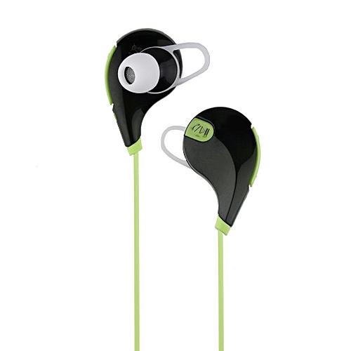 Bluetooth Wireless Stereo Earphone Earbuds Sport Headset Headphone Univerval Black & Green