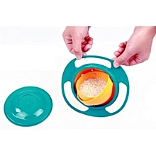 Creative Baby Feeding Bowl Toy 360 Rotate Funny UFO Gift Non Spill Universal Gyro Bowl Dish