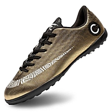 Artificial Turf Training Shoes Newest Boy And Men's Soccer Shoes Gold Boots Sneakers-Gold