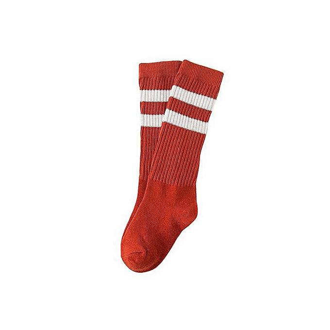 71cde6bdb Braveayong Baby Toddler Kids Stripe Knee High Socks Stockings Floor Socks  RD/M -Red