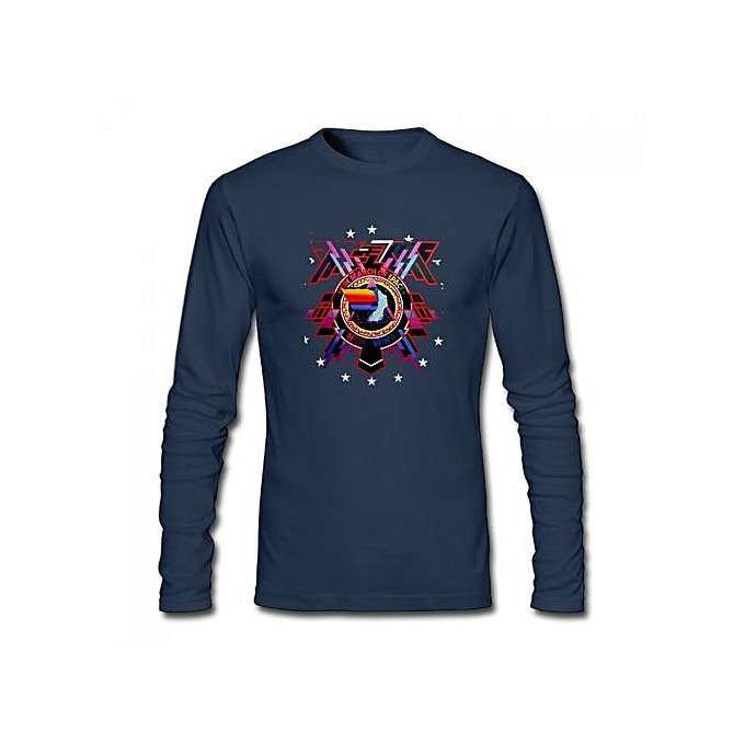 3ee914c15 Hawkwind In Search Of Space Bob Lp Front Men's Cotton Long Sleeve T-shirt  Blue