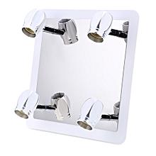 Lightme GU10 Modern 4 x 3W Bathroom Front Mirror Light 360 Degree Rotating Wall Fixture Lamp SILVER WHITE