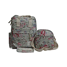 Floral Print Pretty Girls 3Pcs School Bag set for Girls.