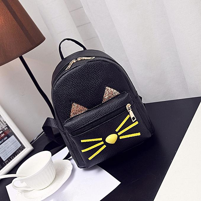 huskspo Lovely Cat Backpacks Women School Teenage Girls Travel Laptop  Bagpack BK 854ab4b9147e8
