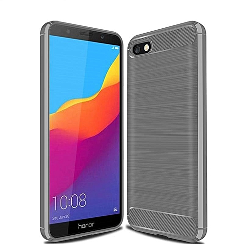the best attitude a6cc5 f74cf For Honor 7S Case Shockproof Carbon Fiber Soft Anti-Knock Casing Cover For  Honor 7S Shell (Grey)