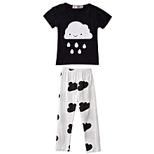 Baby Boys T-Shirt Suit - Black+White