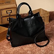 Hiamok Fashion Women Leather Handbag Messenger Shoulder Bag Satchel Black