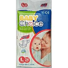 Diapers-Size L (9-14 KG)-24 Pieces