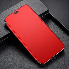 Baseus Luxury Tempered Glass Filp Case For iPhone Xr 6.1 '' 2018 Chic Full Coverage Protective Phone Case For iPhone XR Cover (For iPhone Xr Red) MQSHOP