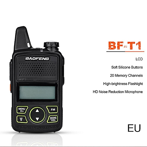 2pcsBF-T1 Portable Radio MINI Walkie Talkie Dual Ham Radio Communicador USB  Interphone Two Way RadioT1 ObeyQ