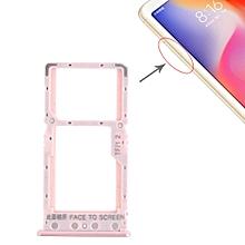 SIM Card Tray + SIM Card Tray / Micro SD Card Tray for Xiaomi Redmi 6 / Redmi 6A(Rose Gold)
