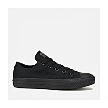 Black Low-Cut Canvas Rubber Shoes