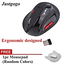 Buy 1 Free 1-Wireless Mouse Optical Gaming Rechargeable Mice For Pro Gamer Black