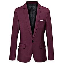 Men's Slim Fit Suit Blazer- Wine