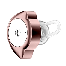 D4 Bluetooth Earbud, Smallest Mini Invisible Wireless Bluetooth Headset Headphone Earphone With Mic Hands-Free Calls For Smartphones(WhitePink)