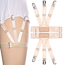 Men Male Garter Shirt Stays Suspenders Elastic Adjustable Garter Holder Braces