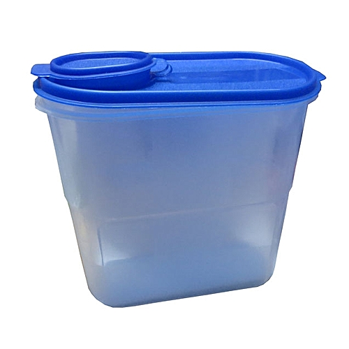 Plastic Kitchen Grains & Cereals Jar Pasta,Bean,Rice Storage Container 1.5 Litres- Clear