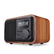 ( Colour:Light Grain)Luxury IBox D90 Multimedia Wooden Bluetooth Microphone Speaker With FM Radio Alarm Clock TF/USB MP3 Player Wood Stereo Subwoofer