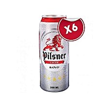 Lager Beer 6 Pack Can  - 500ml