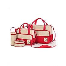 5 Piece Diaper Bag- Red