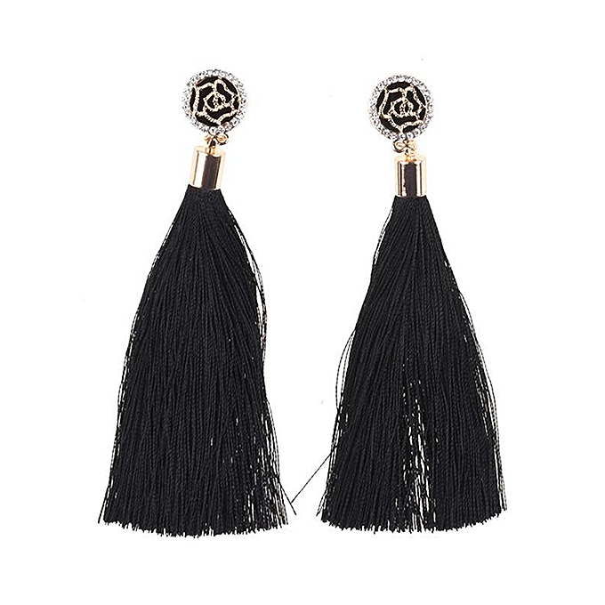 Buy Sunshine Elegant Earrings Vintage Style Long Fringe Dangle