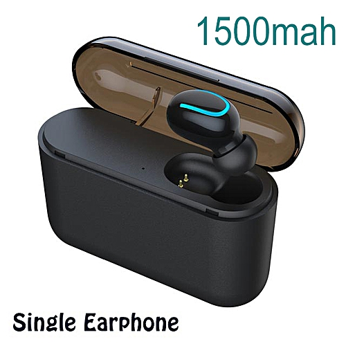 f223ef0cb9f Generic TWS Wireless Bluetooth 5.0 Earphone Headphone headset music Sport  Earbud HD MIC charging case ipx5 waterproof(#single black)