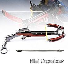 Mini Crossbow Metal Model Shooting Outdoor Fun Toy Decoration Key Ring Boutique