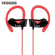 VEGGIEG V8 Sports Bluetooth Ear Hook Earphones - RED