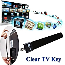 Olivaren Clear TV Key HDTV FREE TV Digital Indoor Antenna 1080p Ditch Cable As Seen On TV -Black