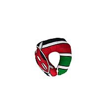 Kenyan Flag Travelling Neck Pillow