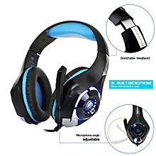 3.5mm Gaming Headphone Earphone Gaming Headset Headphone Xbox One Headset With Microphone For Laptop Phone Blue