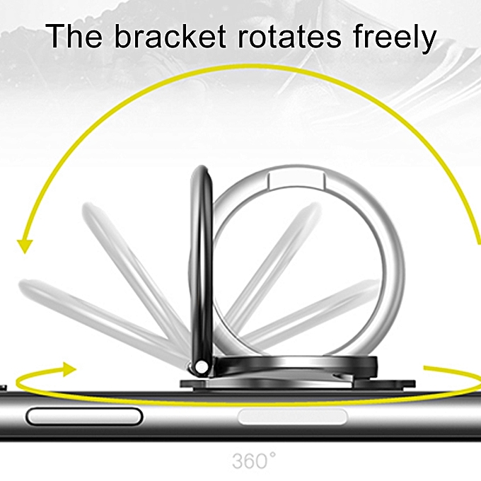 ... lenuo 360 Degrees Rotation Metal Bat Shape Phone Ring Holder with Magnetic Function(Grey) ...