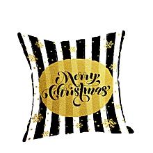 Happy Christmas Pillow Cases Linen Sofa Cushion Cover Home Decor Pillow Case